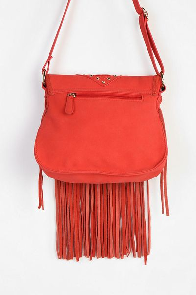 outfitters ecote studded fringe crossbody bag in