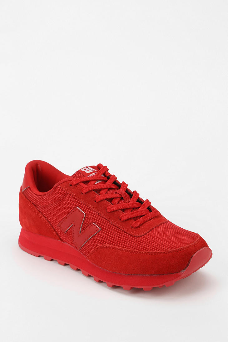 New Balance 501 Monochromatic Running Sneaker in Red - Lyst
