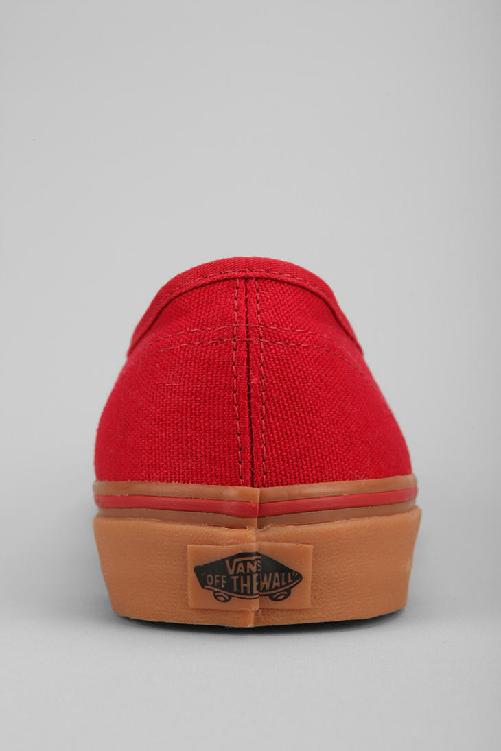 Lyst - Vans Authentic Gum Sole Sneaker in Red for Men 9daf9c9dc
