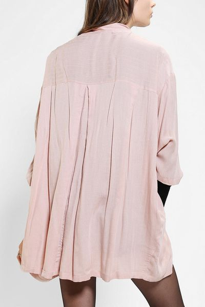 Urban Outfitters Ecote Painter Smock Jacket In Pink Rose