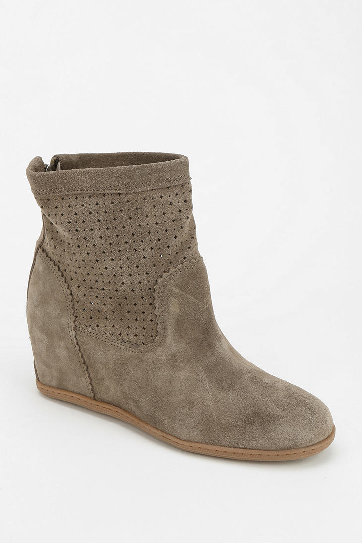 Urban outfitters Vita Krynn Hidden Wedge Ankle Boot in Gray | Lyst