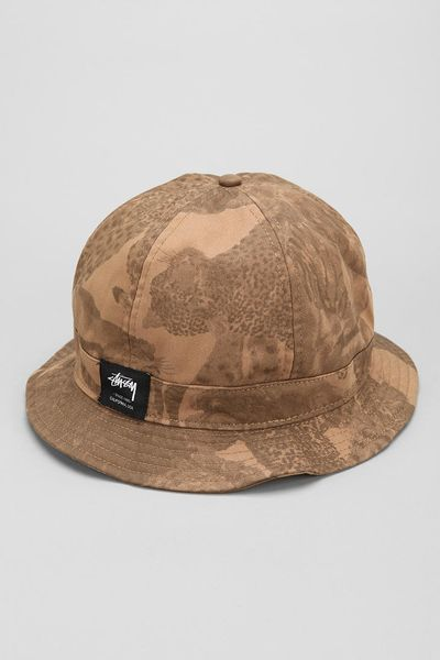 Urban Outfitters Stussy Big 5 Bucket Hat In Beige For Men