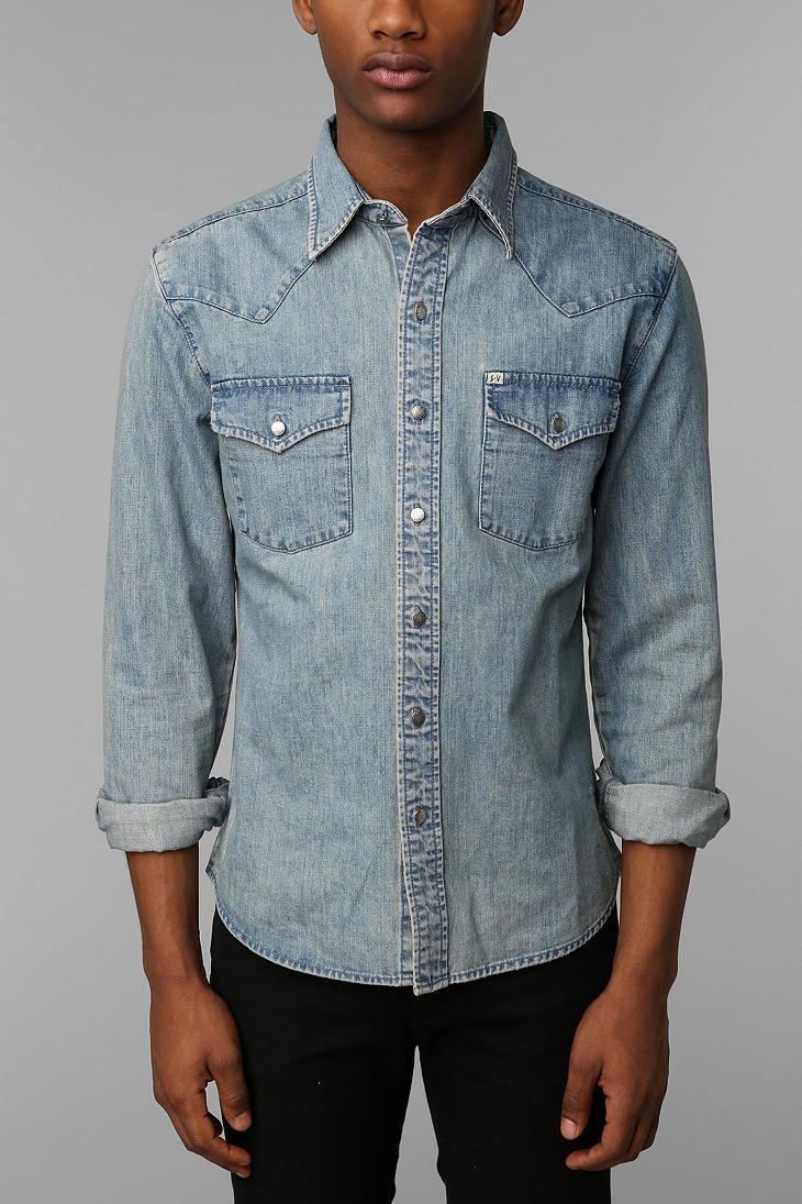 Lyst Urban Outfitters Salt Valley Denim Western Shirt In