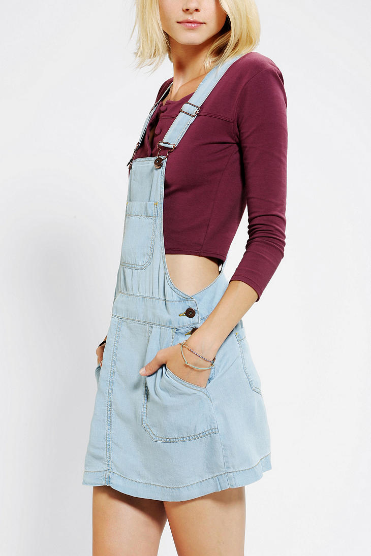 e7d1dd5aa0 Urban Outfitters Coincidence Chance Chambray Overall Skirt in Blue ...