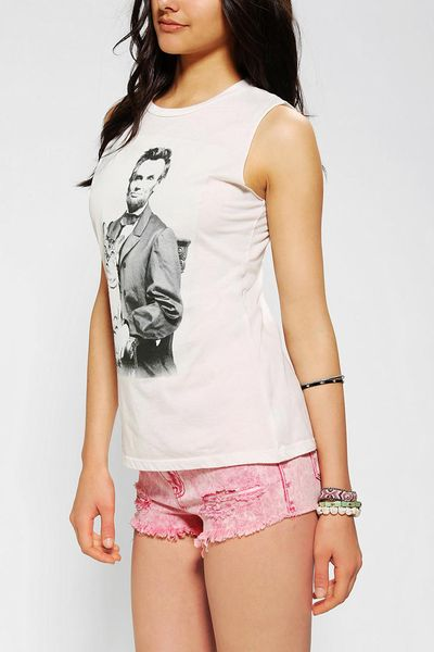 Urban outfitters corner shop lincoln cat muscle tee in for Lucky cat shirt urban outfitters