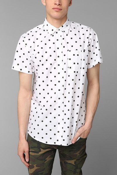 Urban outfitters publish zimmern polka dot buttondown for Button down polka dot shirt