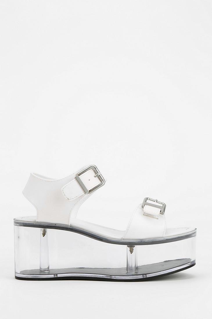 f925228fc0b Urban Outfitters Yru Qloud Clear Platform Sandal in White - Lyst