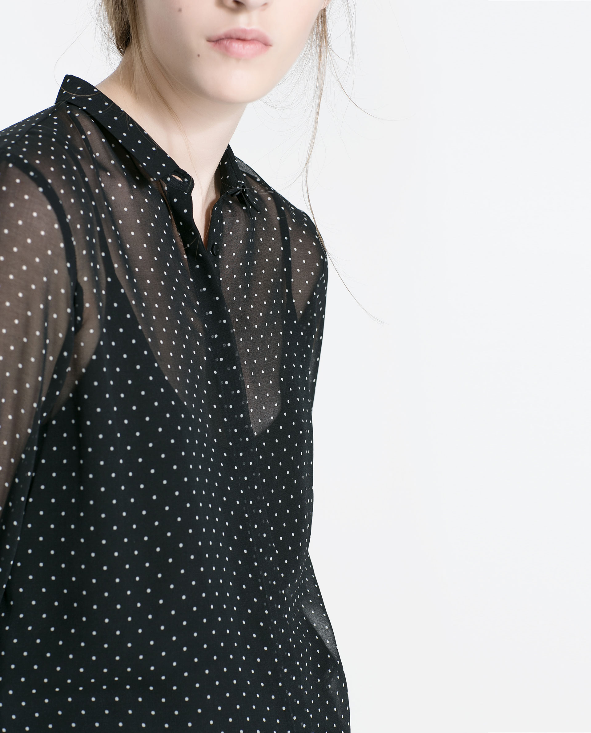 Zara Sheer Black Blouse 83