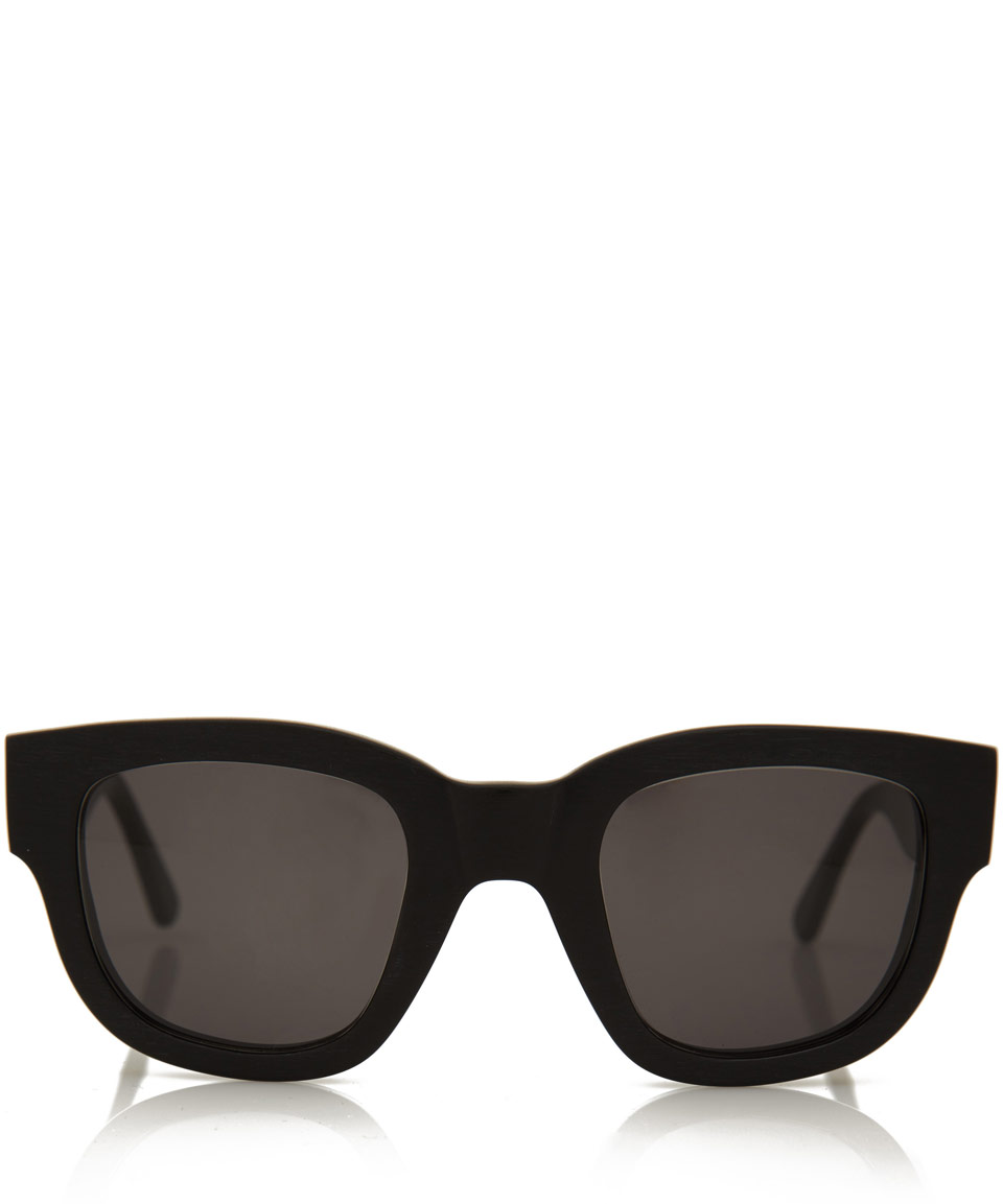 Rounded Square Sunglasses  acne studios black frame rounded square sunglasses in black for