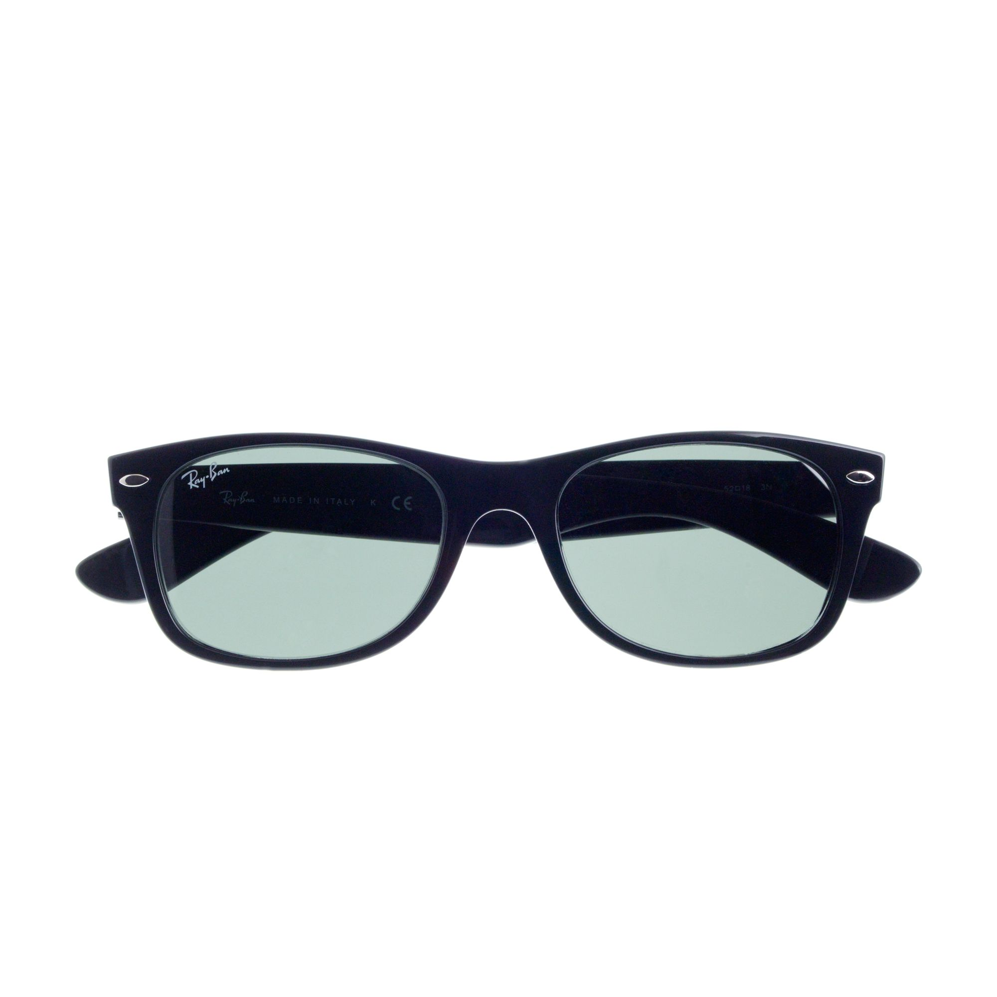 ray ban new wayfarer sunglasses in black for men lyst. Black Bedroom Furniture Sets. Home Design Ideas