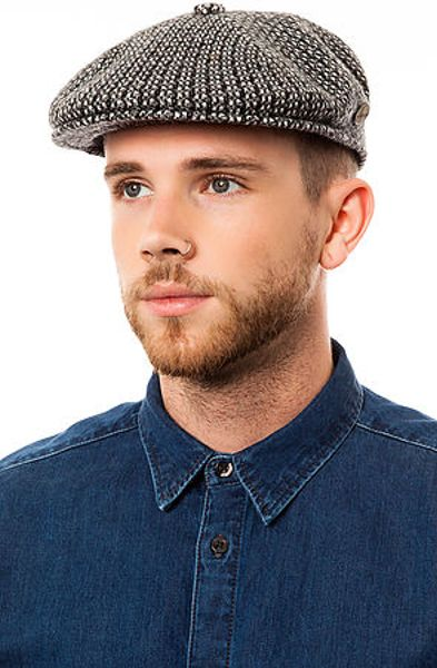 Kangol The Houndstooth 504 Hat in Gray for Men (Black)