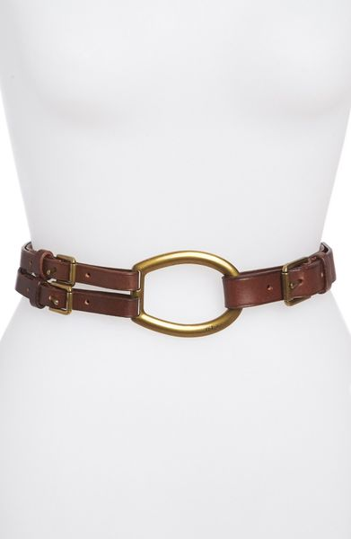 Ralph Lauren Belt 1 18 Saffiano Leather with Martingale Buckle in Brown