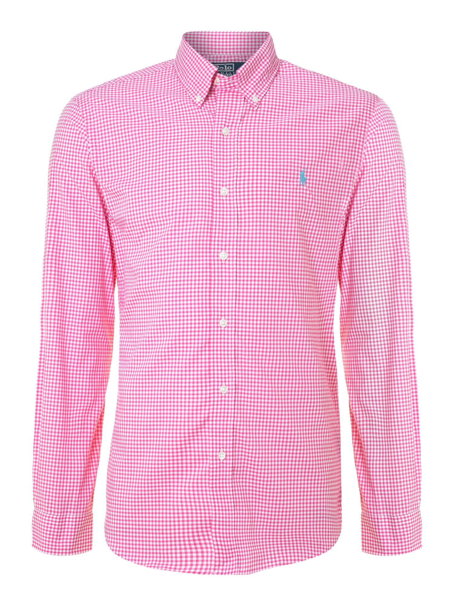 Polo ralph lauren Slim Fit Gingham Check Shirt in Pink for Men | Lyst