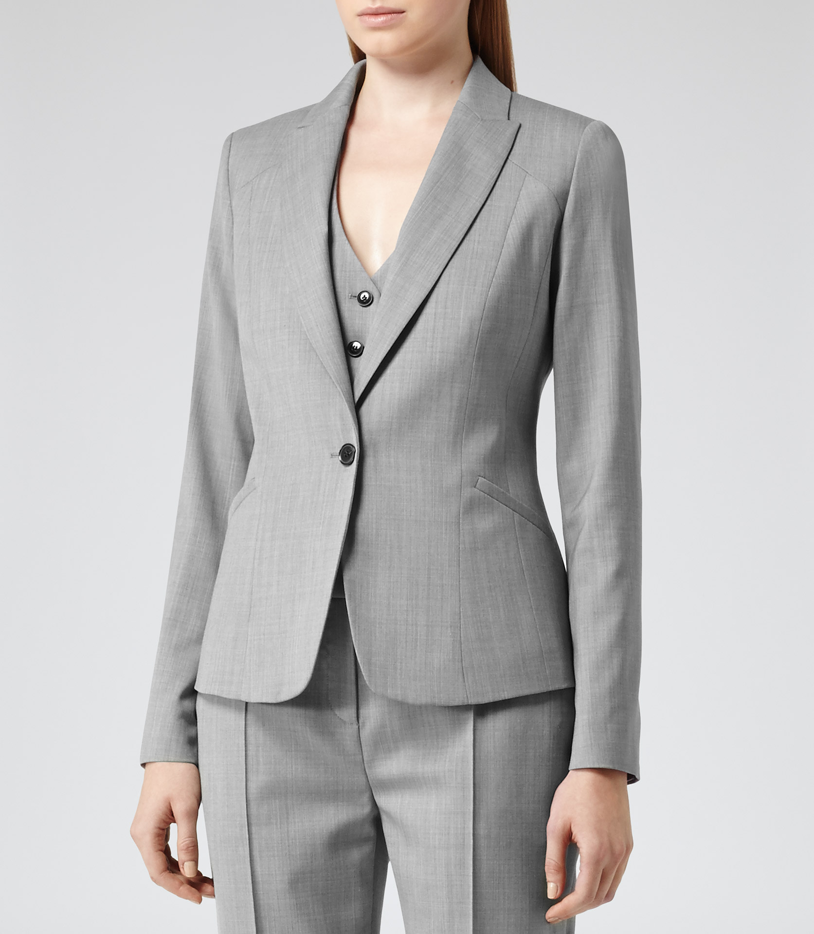 Lyst - Reiss Tomley Arc Tailored Jacket In Gray