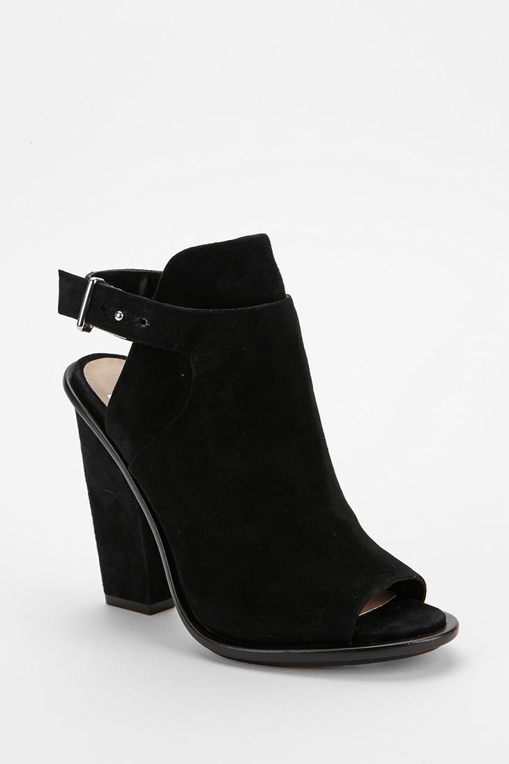 Urban outfitters Dolce Vita Niven Peep-Toe Ankle Boot in Black | Lyst
