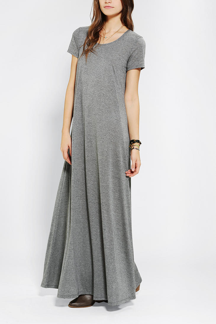 Urban outfitters Staring At Stars Drapey Maxi Tee Dress in Gray  Lyst