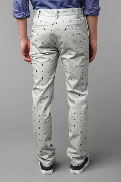 Urban Outfitters Skinny Pattern Chino Pant in Gray for Men  SKY Urban Outfitters Pattern