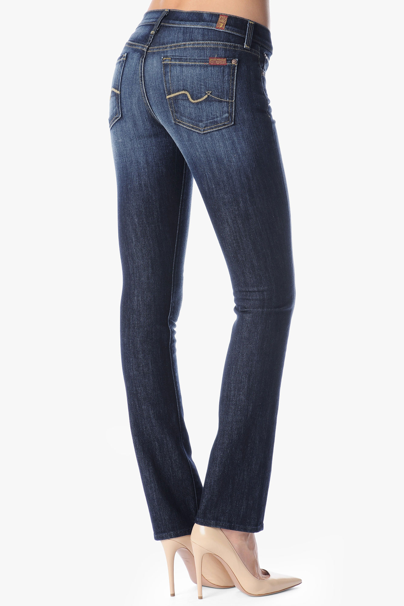 7 for all mankind Classic Straight Leg in Blue | Lyst
