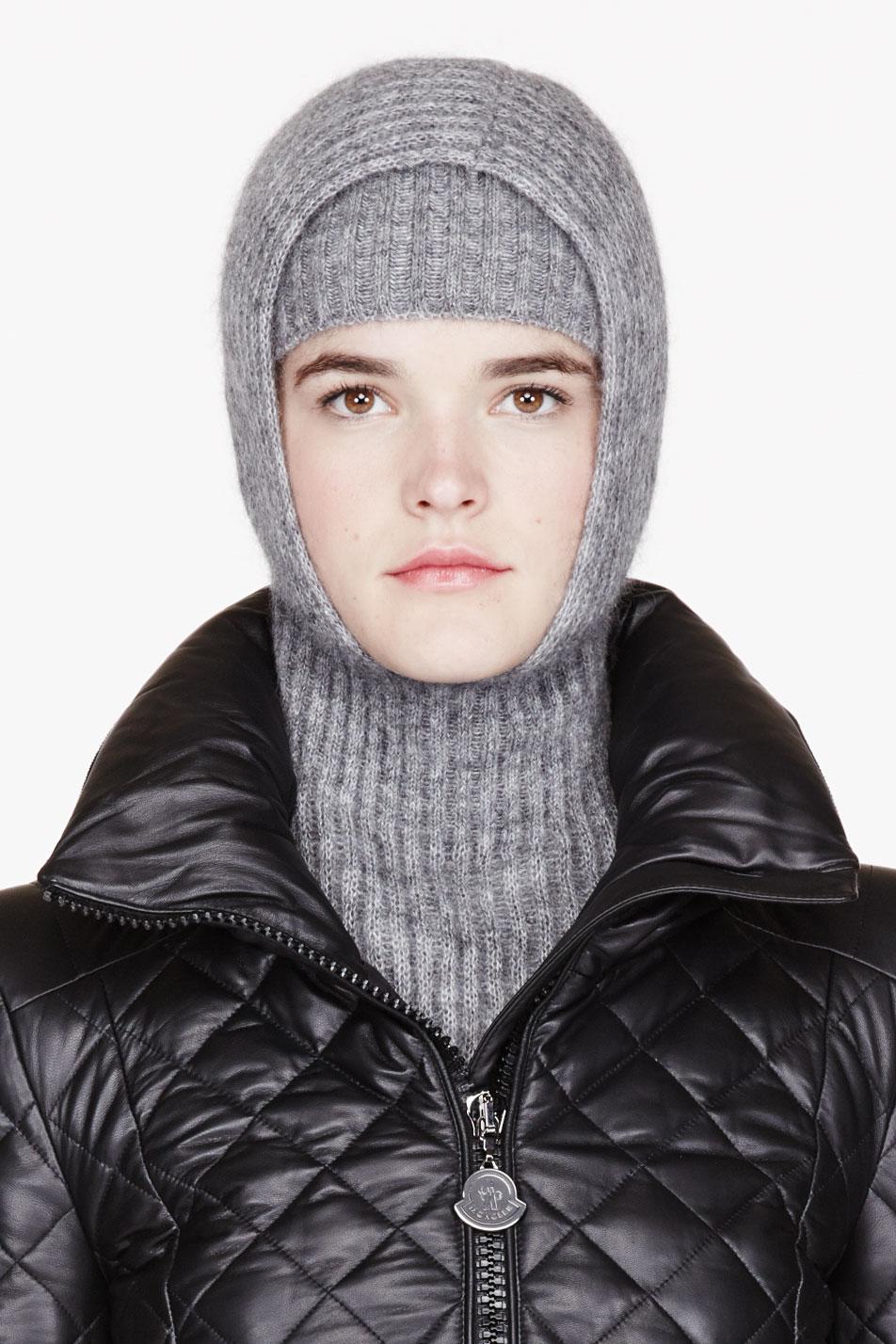 Lyst - Alexander Wang Grey Mohair Ribbed Hooded Snood and Headband ... 21683f35fea