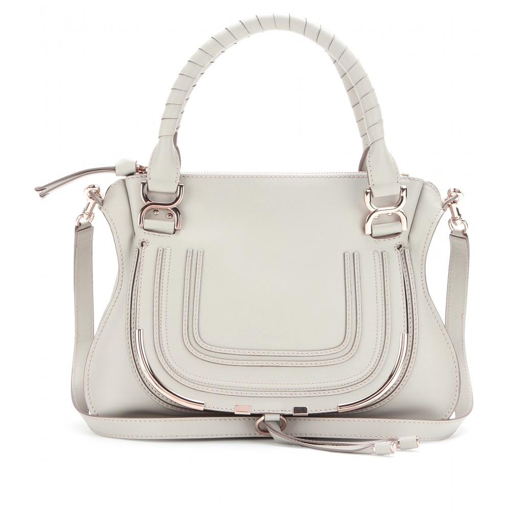 chloe chloe bags - Chlo�� Marcie Medium Leather Tote in Gray (marshmallow grey made in ...