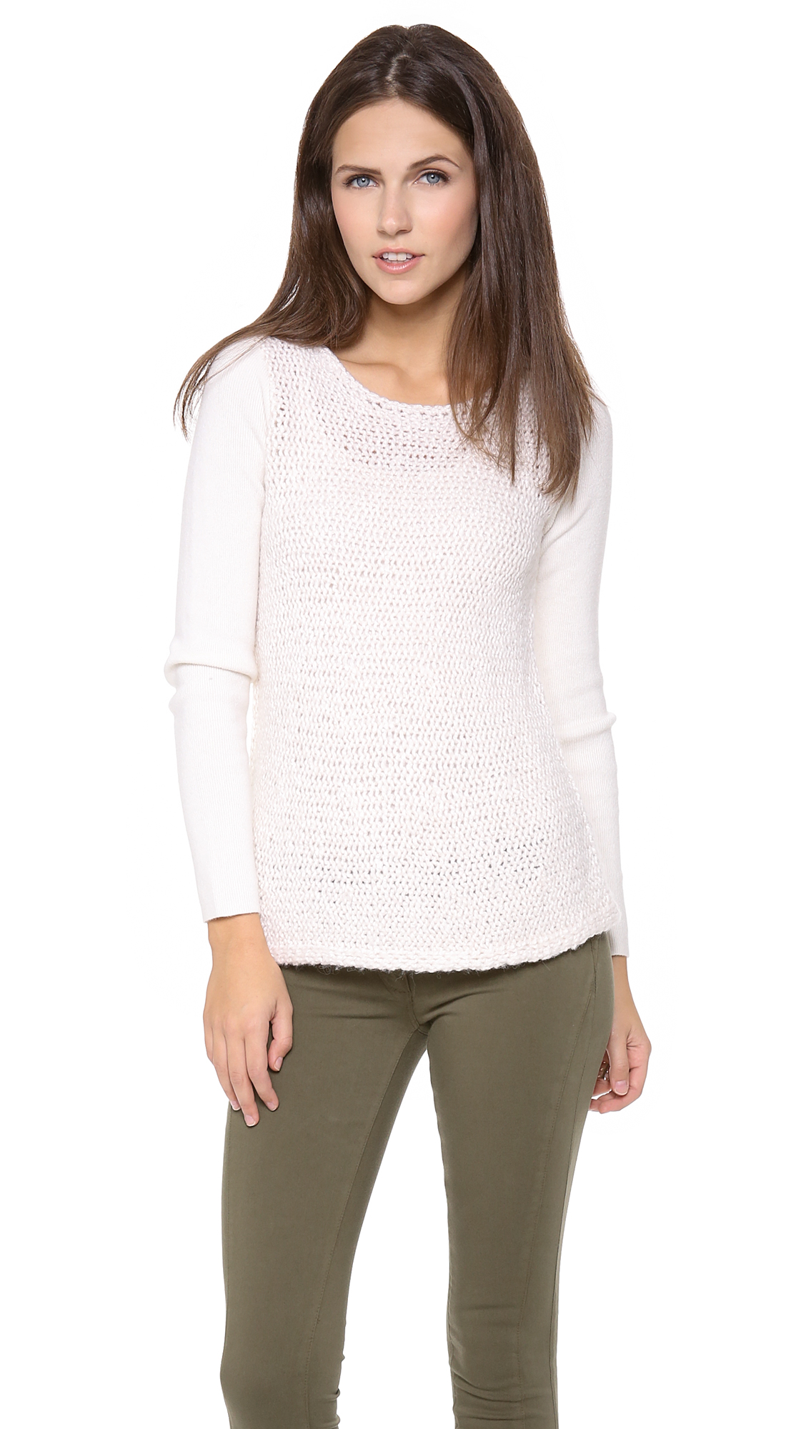 Club Monaco Brittney Sweater In White Cream Lyst