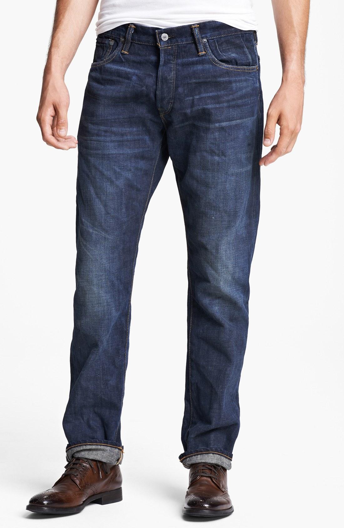 lyst polo ralph lauren roebling slim fit selvedge jeans. Black Bedroom Furniture Sets. Home Design Ideas