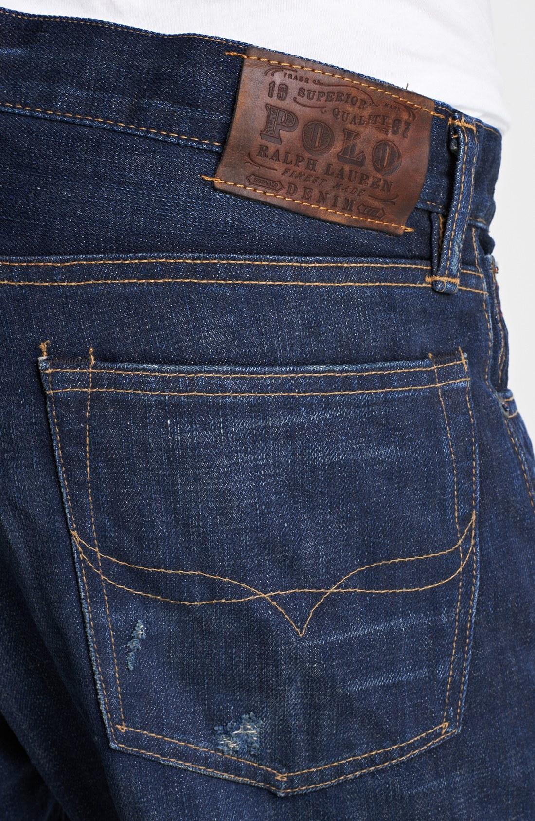 aada0a130 Polo ralph lauren Roebling Slim Fit Selvedge Jeans in Blue for Men