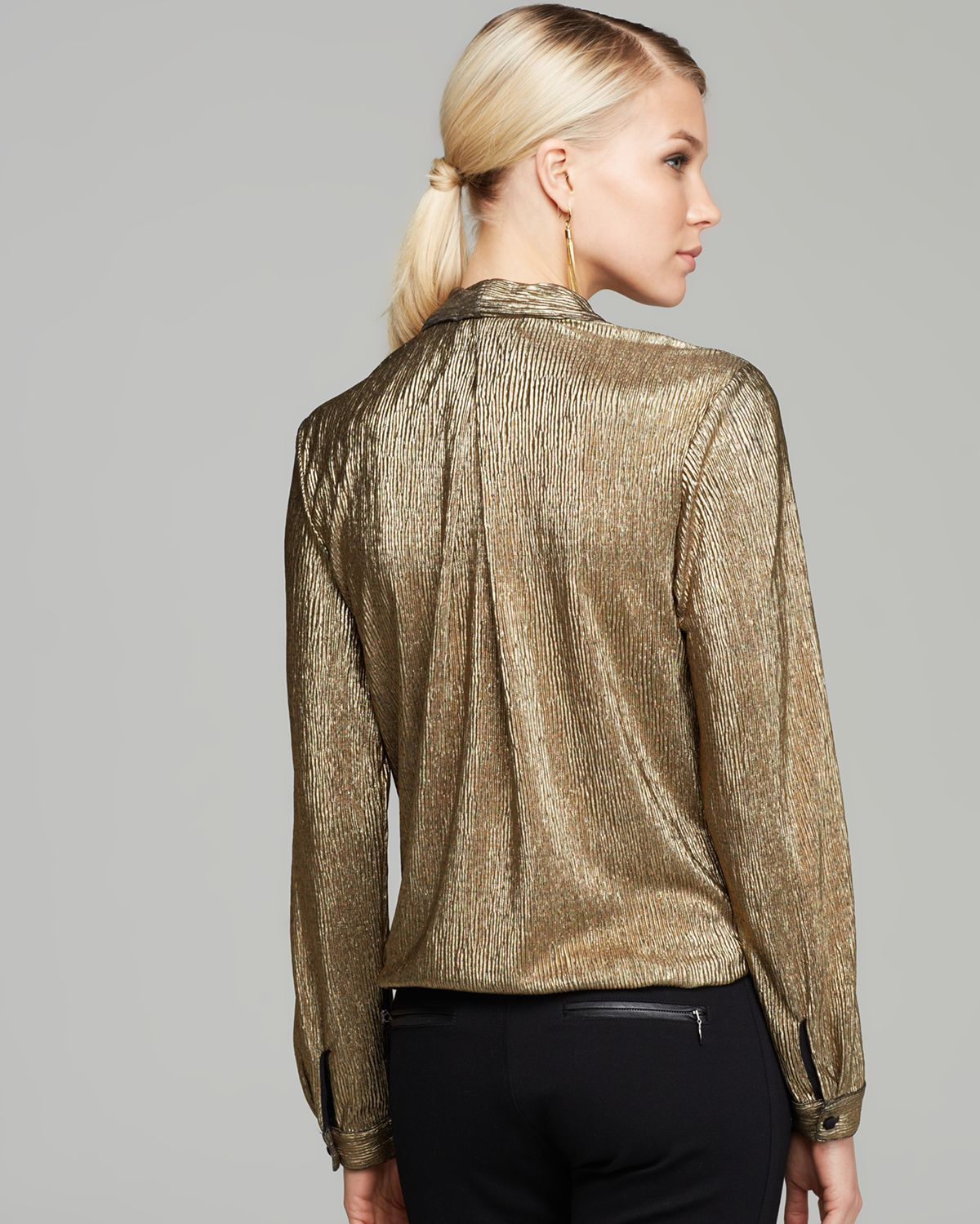 Lyst Sam Amp Lavi Blouse Wynter Metallic In Metallic