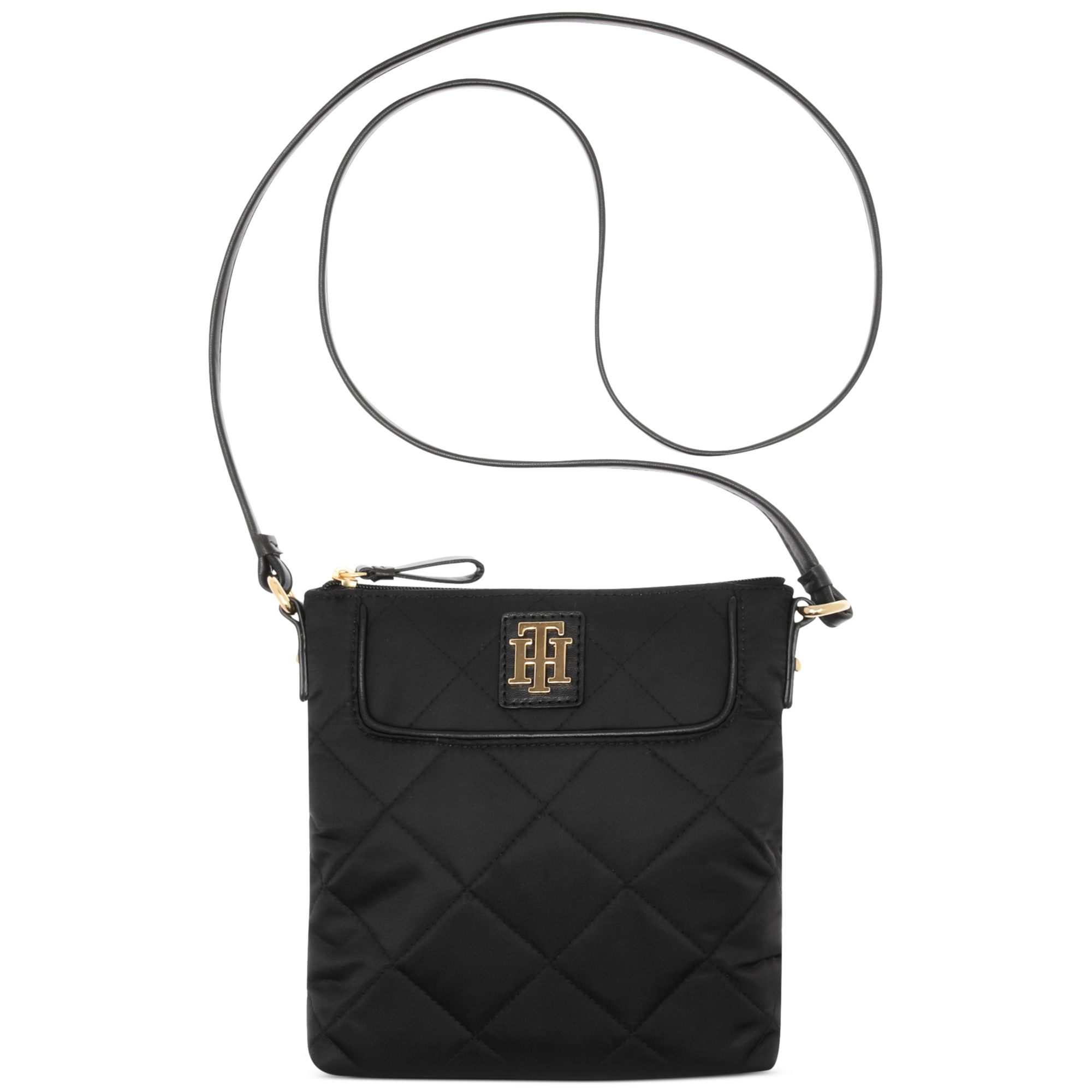 9e52d55ee49 Tommy Hilfiger Signature Quilted Crossbody in Black - Lyst