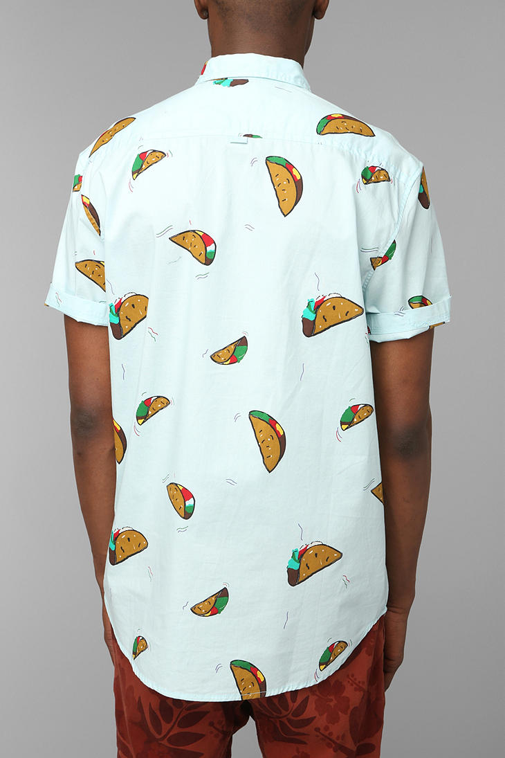 Lyst - Urban Outfitters The Taco Buttondown Shirt in Blue