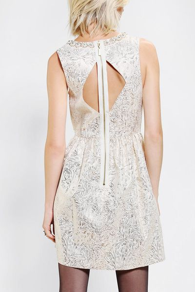 Urban Outfitters Cooperative Metallic Tapestry Fit Flare
