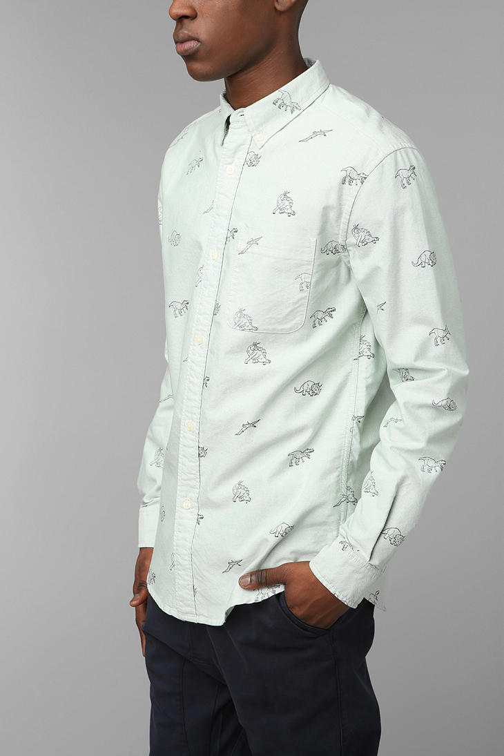Urban Outfitters Hawkings Mcgill Dino Buttondown Oxford