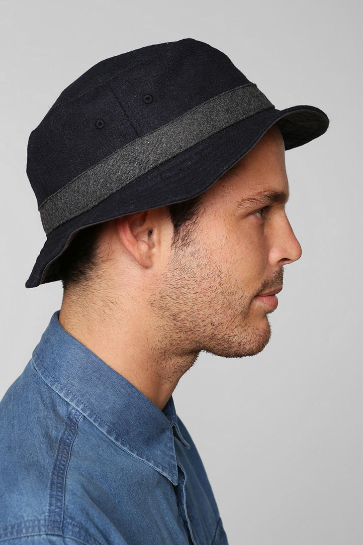 Lyst - Urban Outfitters Wool Bucket Hat in Blue for Men