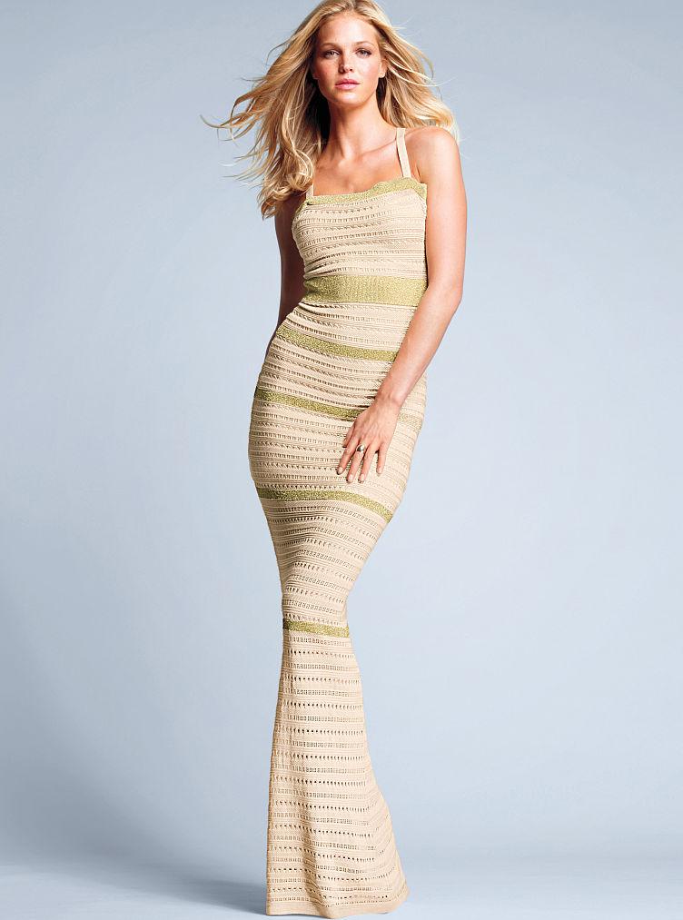 Victoria 39 S Secret Knit Maxi Dress Print In Beige Natural