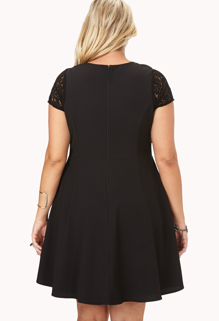 Lyst Forever 21 Elegant Crochet Lace Dress In Black