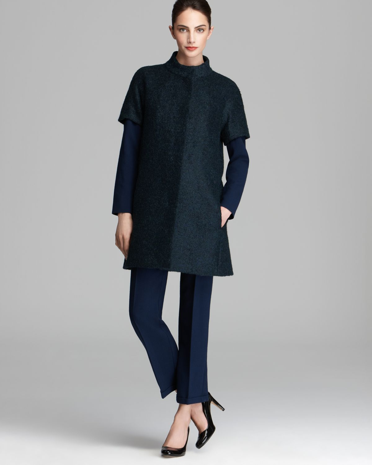 Max mara studio Knut Short Sleeve Coat in Green | Lyst