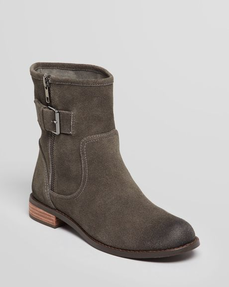 splendid flat boots oakland buckle in gray grey lyst