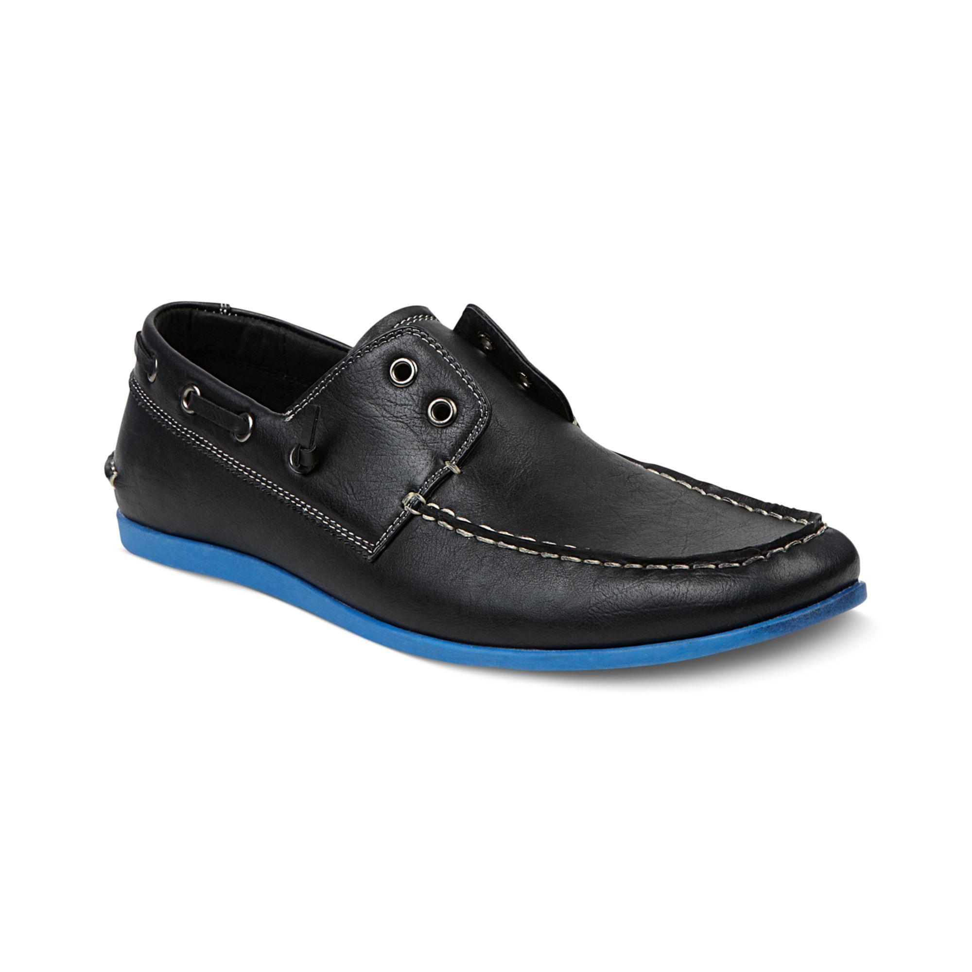 Steve Madden Madden Men'S Shoes, Gamer Boat Shoes in Blue for Men
