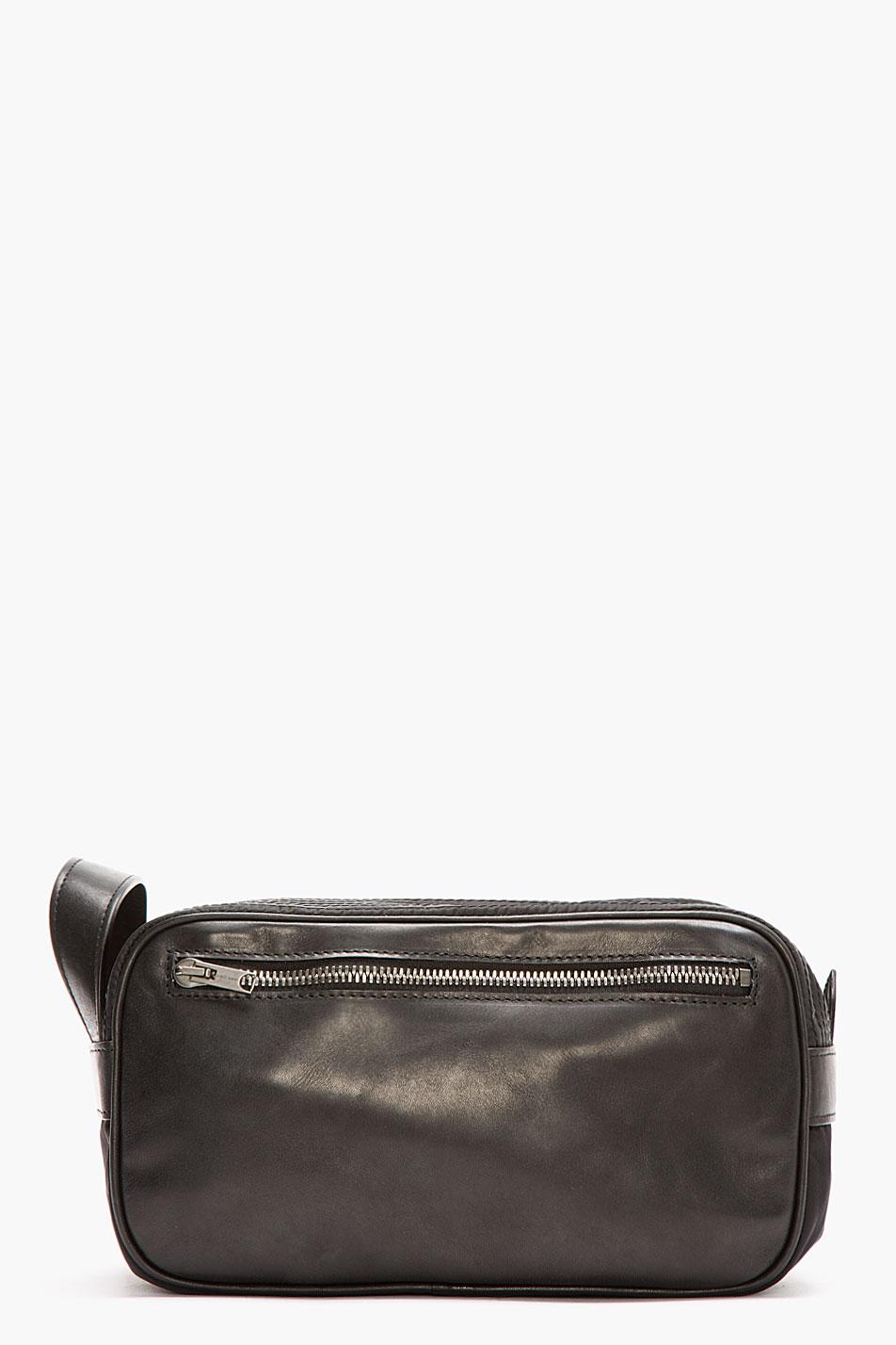 Lyst Damir Doma Leather Trimmed Batu Travel Kit In Black