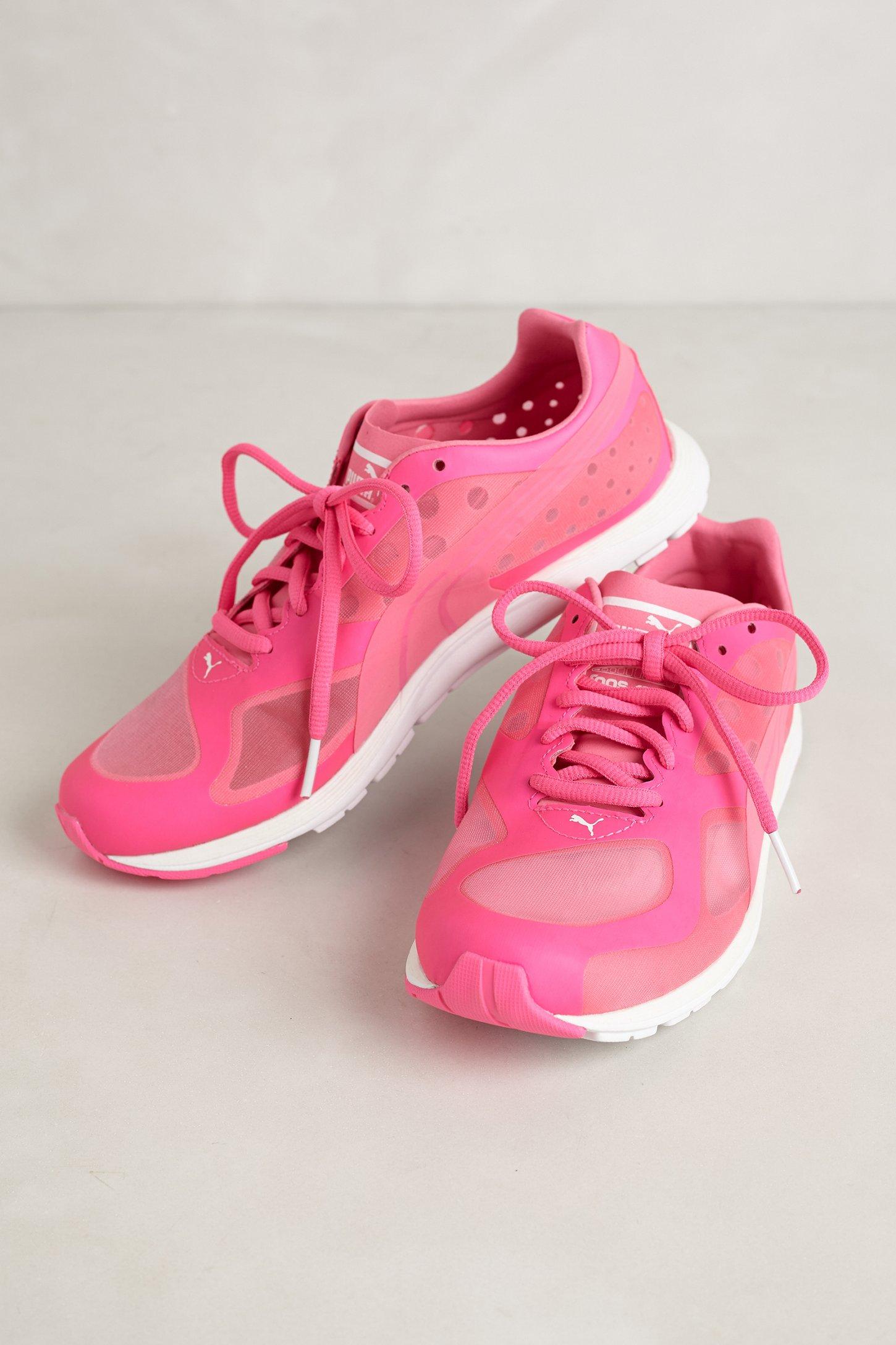 lyst puma faas 100 r glow sneakers in pink