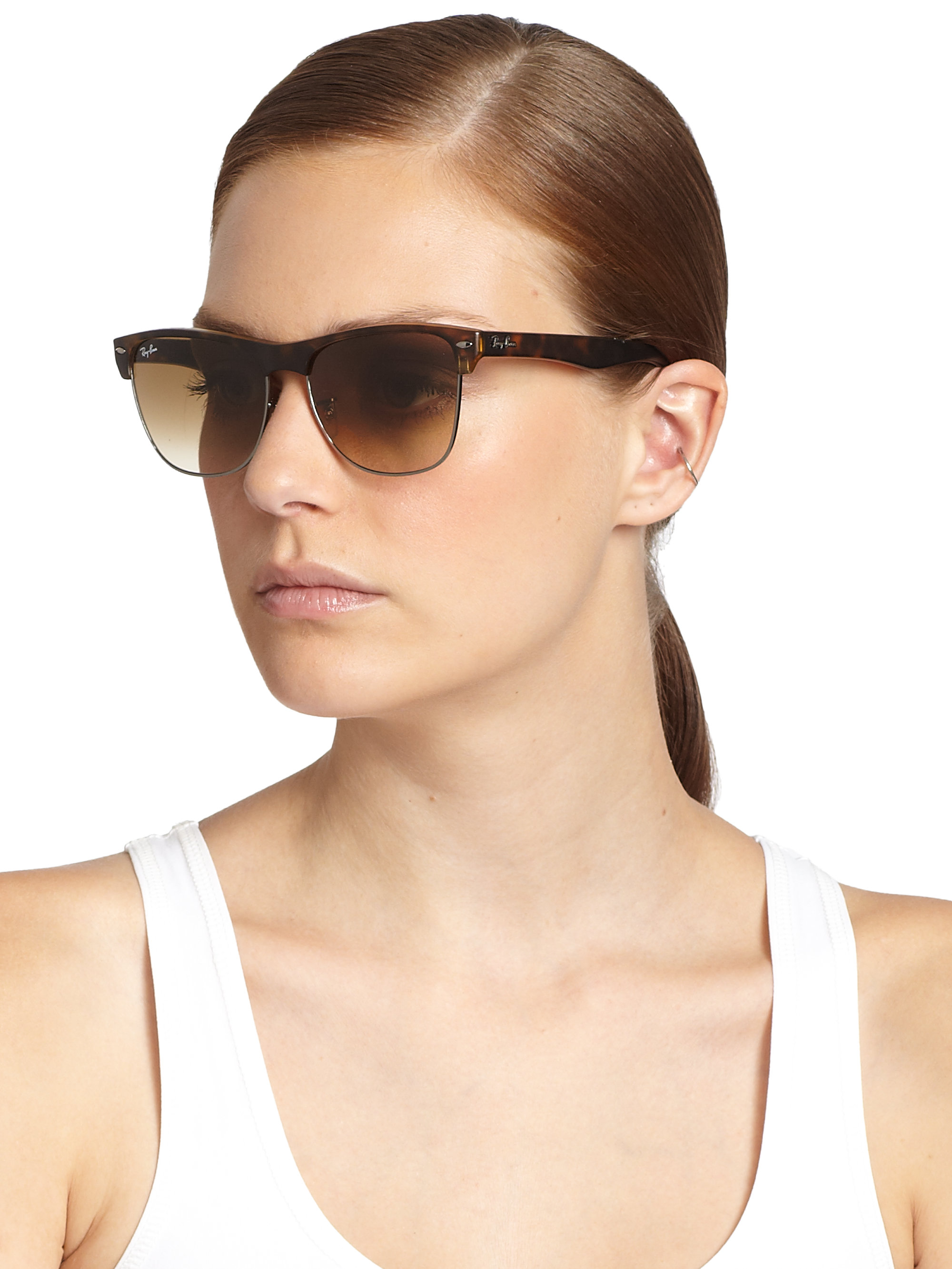 dbfe6475b7 Gallery. Previously sold at  Saks Fifth Avenue · Women s Clubmaster  Sunglasses Women s Ray Ban ...
