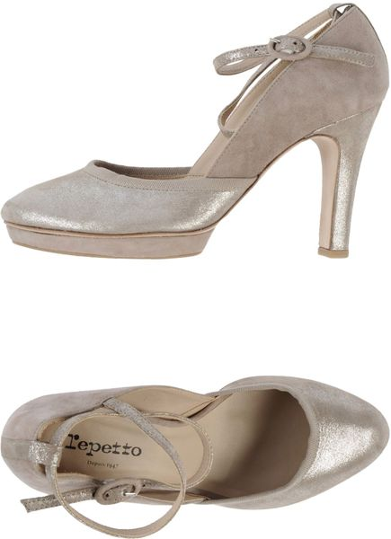 Repetto Platform Pumps in Gray (Light grey)