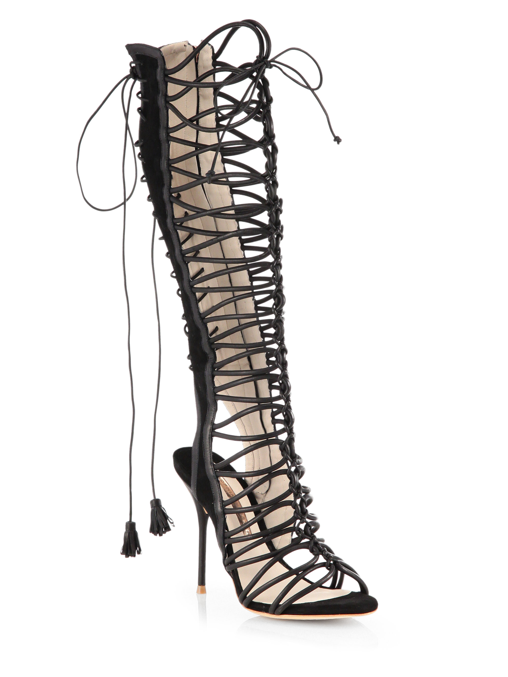 Lyst - Sophia Webster Clementine Lace-Up Sandal in Natural