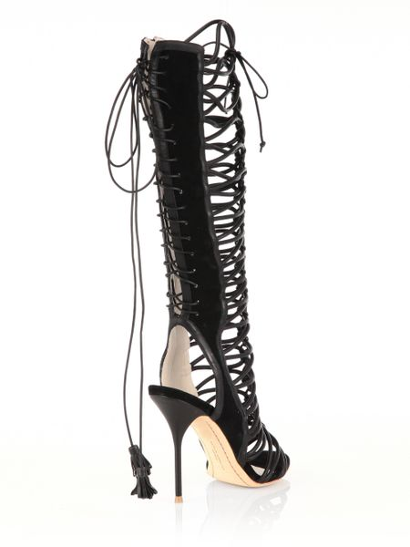 Sophia Webster Clementine Leather Amp Suede Lace Up Sandal