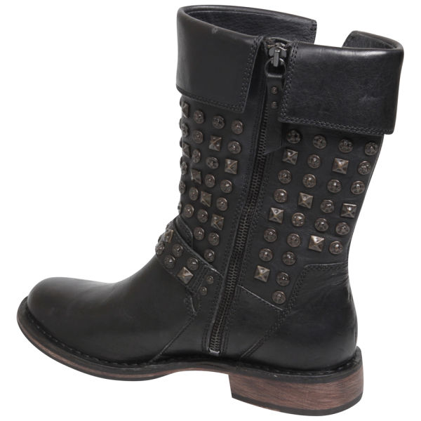 ugg australia womens conor studded leather motorcycle