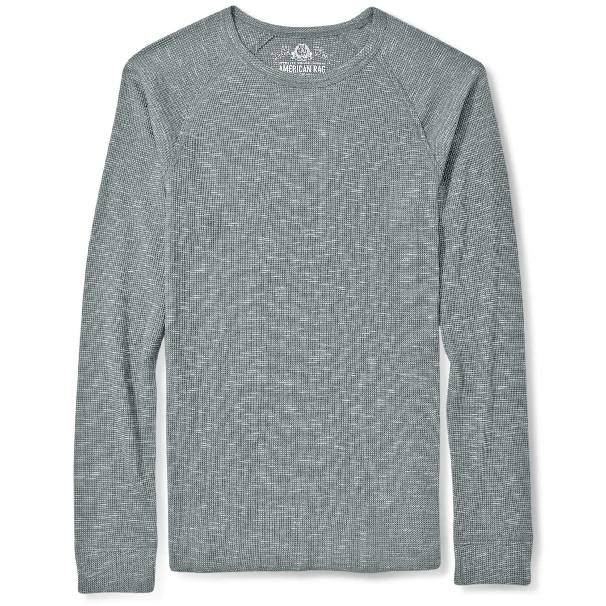 Lyst american rag crew neck slub long sleeve thermal Thermal t shirt long sleeve