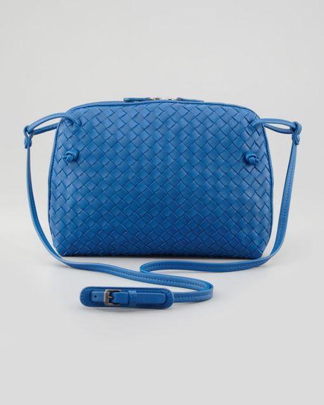 Bottega Veneta Veneta Small Crossbody Bag Blue in Blue - Lyst