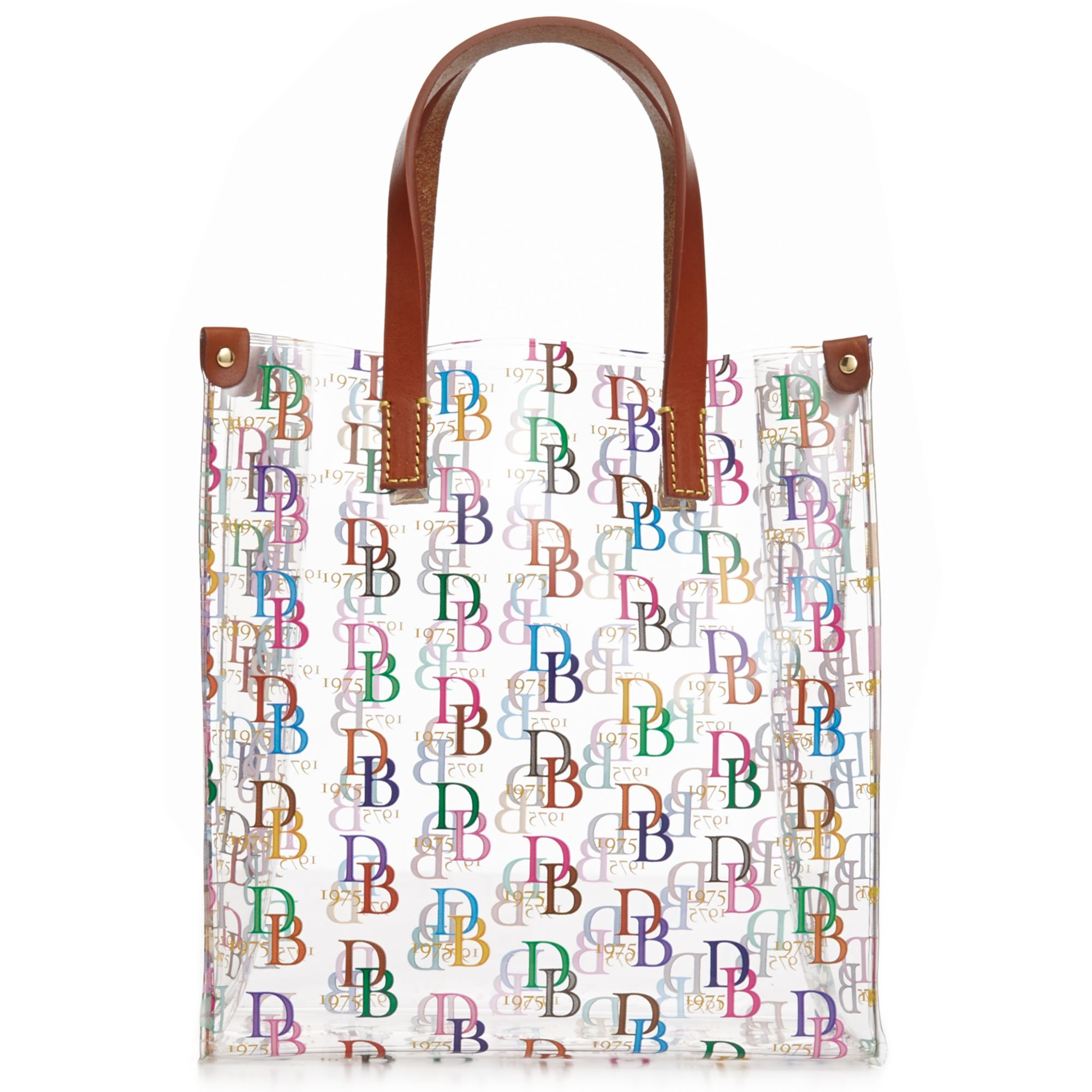 dooney amp bourke clear small shopper in multicolor clear