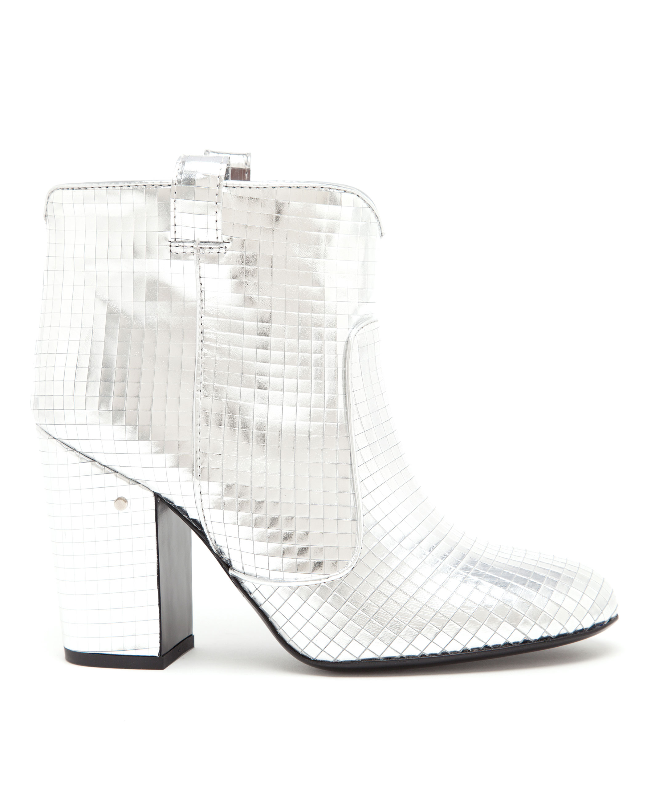 245472d7008 Laurence Dacade Pete Metallic Leather Disco Boot in White - Lyst