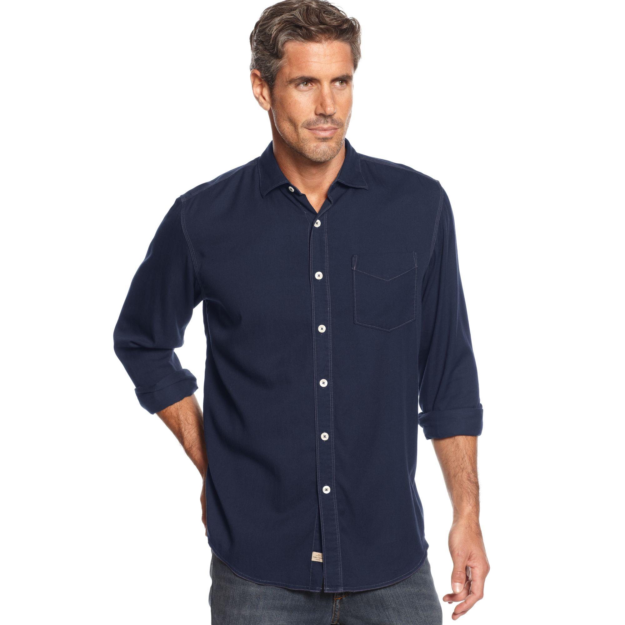 Tommy bahama longsleeve still twillin shirt in blue for for Tommy bahama long sleeve dress shirts